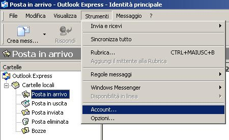 programma di posta elettronica outlook express