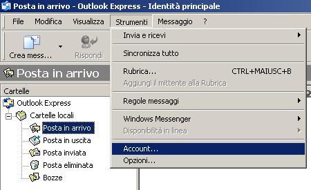 posta elettronica outlook express